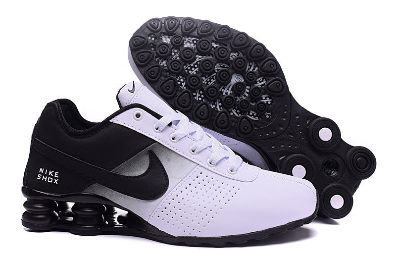 NEW WOMEN NIKE SHOX DELIVER WHITE BLACK SHOES